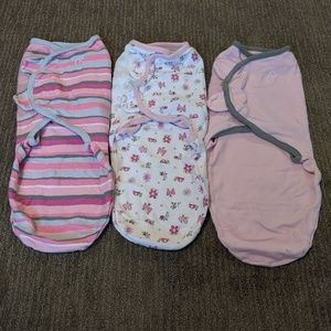Babygirl Lot of 3 SwaddleMe size SM/Med